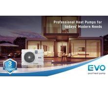 Інверторний тепловий насос для басейну EVO EP-120i