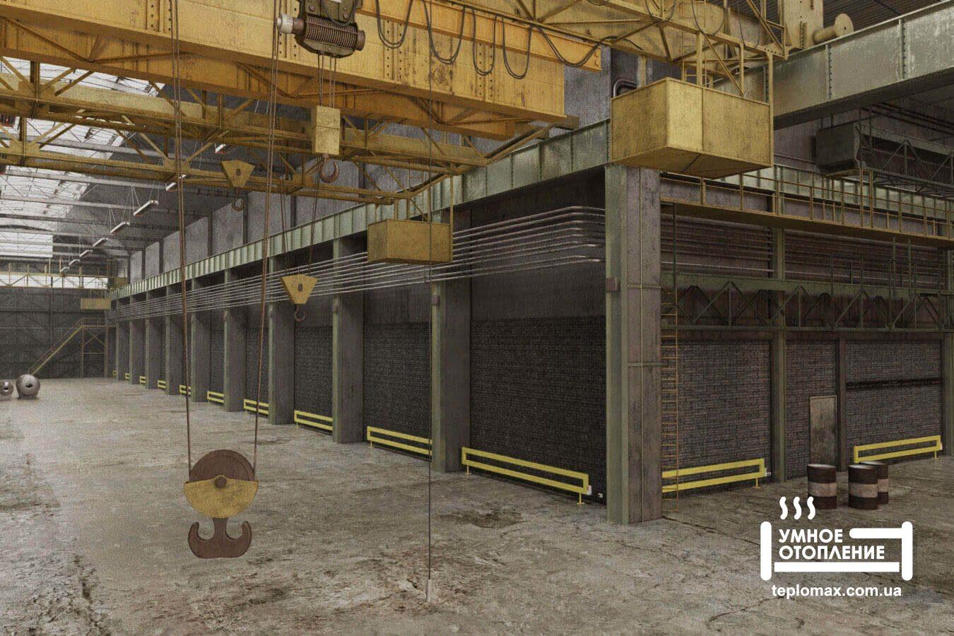 Отопление промышленных площадей