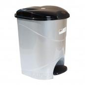 Ведро для мусора с педалью Irak Plastik Bella №2 19 л серый металлик