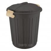 Бак для мусора Irak Plastik Luxury № 5 Herkul 73 л шоколад