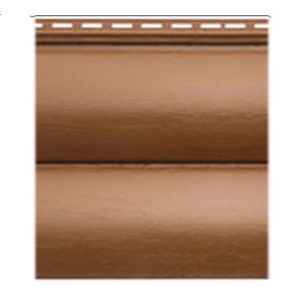 Сайдинг вініловий Alta-Profil Блок Хаус двухпереломний 3,1х0,32 м дуб світлий