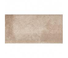 Клінкерний східець Paradyz Viano beige stopnica prosta struktura 30x60 см