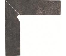 Клінкерна цоколь Paradyz Viano antracite lewy 8,1x30 см