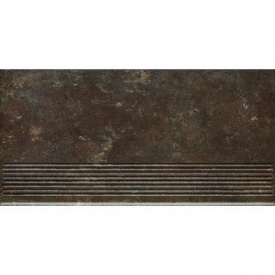 Клинкерная ступень Paradyz Ilario brown prosta struktura 30x60 см