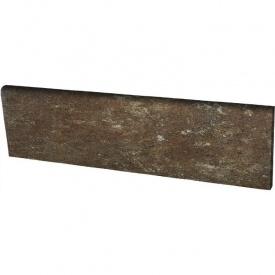 Клинкерный цоколь Paradyz Ilario brown 8,1x30 см