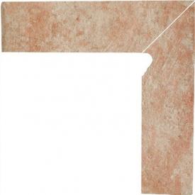 Клинкерный цоколь Paradyz Ilario beige prawy 8,1x30 см