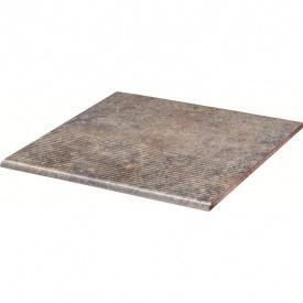 Клинкерная ступень Paradyz Viano grys stopnica prosta struktura 30x30 см