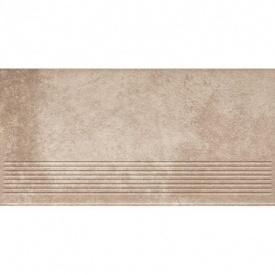 Клинкерная ступень Paradyz Viano beige stopnica prosta struktura 30x60 см
