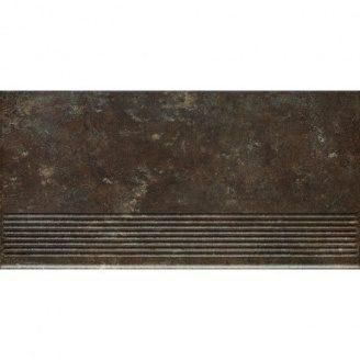 Клінкерний східець Paradyz Ilario brown prosta struktura 30x60 см
