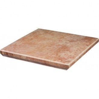 Східець клінкерний кутовий з капі носами Paradyz Ilario beige struktura 33x33 см