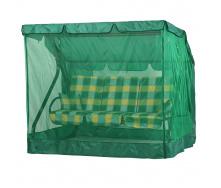 Садовая качель Vitan Вилла 1670х2150х1500 мм бязь желто-зеленая клетка