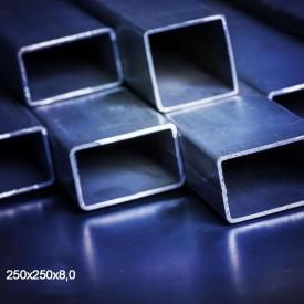 Труба профільна сталь 1-3пс 250х250х8 мм 12 м