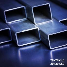 Труба профільна сталь 1-3пс 20х20х1,8 мм 6 м