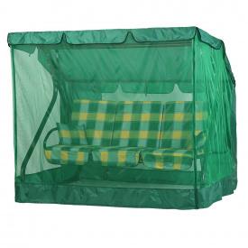 Садова гойдалка Vitan Вілла 1670х2150х1500 мм бязь жовто-зелена клітка