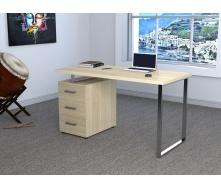 Письменный стол Loft-design L-27 MAX однотумбовый лдсп дуб-борас