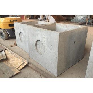 Колодязь квадратний збірний бетонний КК 15.10 1500х1500х1000 мм