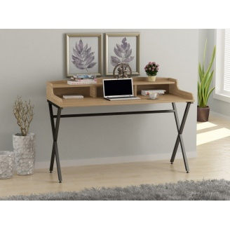 Компьютерный стол Loft-design L-10 светлый дуб-Борас