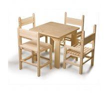 Детский стол и стул SportBaby №-4 сосновый