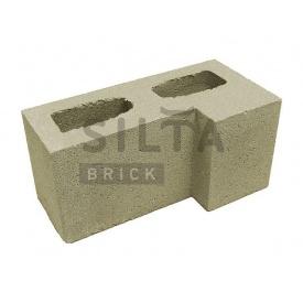 Блок гладкий Сілта-Брік Кольоровий 25 кутовий 390х190х190 мм