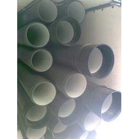 Пластиковая канализация усиленная КАЧМАРЕК двухстенная SN10 300х6000 мм