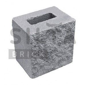 Напівблок декоративний Сілта-Брік Сірий 14 190х190х140 мм