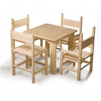 Дитячий стіл і стілець SportBaby №-4 сосновий