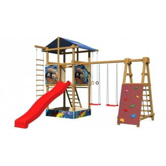 Дитячий майданчик SportBaby 9 3150х4000х4200 мм дерев`яна для вулиці