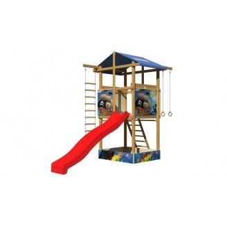 Детская горка SportBaby №7 деревянная башня с горкой