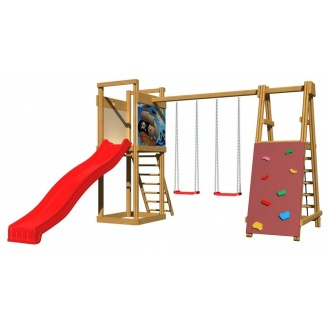 Дитячий майданчик SportBaby №6 2400х3600х4000 мм дерев`яна