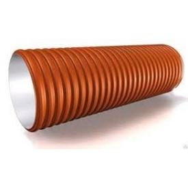 Канализационная пластиковая гофрированная труба усиленного типа SN12 300х6000 мм