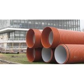 Канализационная труба двухслойная большого диаметра усиленного типа SN12 1000х6000 мм