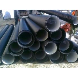 Пластикова гофрированная канализационная двухслойная труба усиленного типа SN16 400х3000 мм