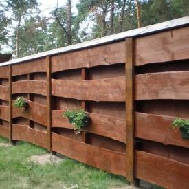 Двухслойный забор из дерева под заказ