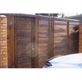 Деревянные ворота для коттеджа Под заказ
