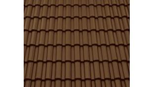 Цементно-песчаная черепица BRAAS Таунас Lumino 420х330 мм коричневый - 250 грн/м2