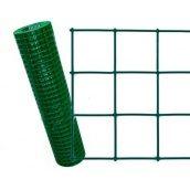 Сітка зварна з ПВХ покриттям (2,5*50*50 мм) зелена 1,5*10 м (кв. м)