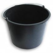 Ведро пластмассовое черное 20 л