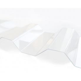 Профільований монолітний полікарбонат Borrex 0,8 мм 105х600 см прозорий