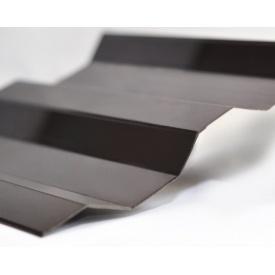 Профилированный монолитный поликарбонат Borrex 0.8 мм 105х200 см коричневый матовый