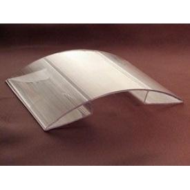 Коньковий з'єднувальний профіль 8-10 мм прозорий