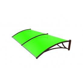 Козирок TanDem 3000х930х280 мм коричневий з стільниковим полікарбонатом 4 мм зелений