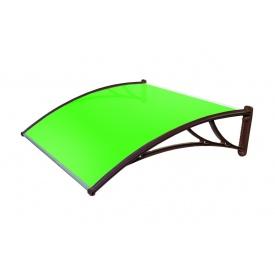 Козирок TanDem 1500х930х280 мм коричневий з стільниковим полікарбонатом 4 мм зелений