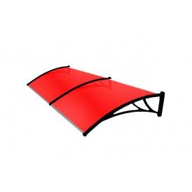 Козырек TanDem 3000х930х280 мм бронза с сотовым поликарбонатом 4 мм красный