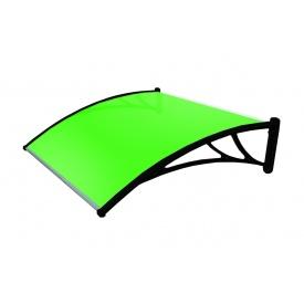Козырек TanDem 1500х930х280 мм бронза с сотовым поликарбонатом 4 мм зеленый