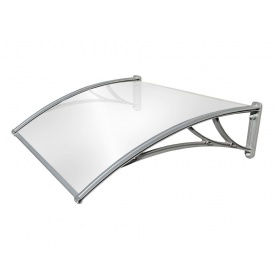 Козырек TanDem 3000х930х280 мм серебристый с монолитным поликарбонатом 4 мм опал