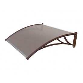 Козырек TanDem 3000х930х280 мм коричневый с монолитным поликарбонатомом 4 мм бронза