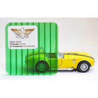Сотовый поликарбонат Oscar 4 мм зеленый