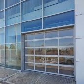 Панорамные ворота ALUTECH AluTrend 3000х3000 мм RAL 9006 серебристый металлик