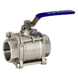 Кран шаровой муфтовый Lateya трехсоставной сталь AISI 304/316 15 мм