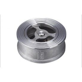 Клапан обратный межфланцевый дисковый Lateya сталь AISI 304 25 мм